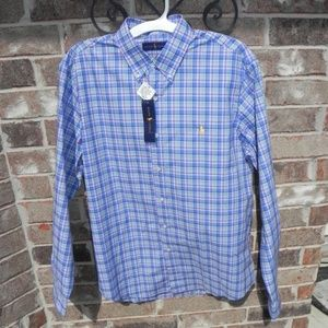 NWT Men's Ralph Lauren Blue Label shirt Large